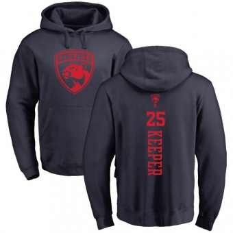 Brady Keeper Youth Florida Panthers Navy One Color Backer Pullover Hoodie