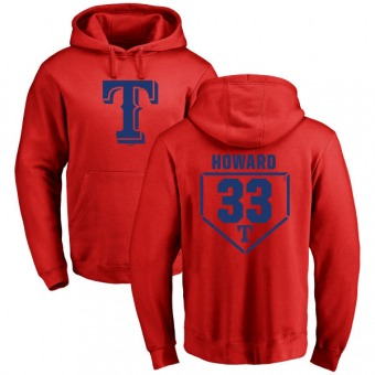 Frank Howard Youth Texas Rangers Red RBI Pullover Hoodie -
